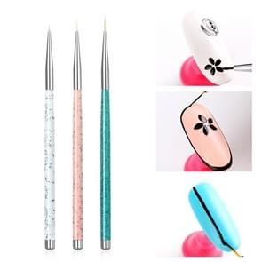3st nagel tekening Pen puntjes gesneden Tool Nail Art Pen tekening Tools accessoires borstels nagel potlood Set