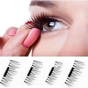 4 PC's 3D magnetische valse wimpers oog Beauty Make-up accessoires Eye wimpers extensie Tools  01#  wimper lengte 2.1cm