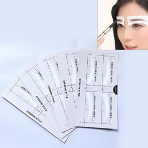 10 Pairs Eyebrow Stencil Shape Template Makeup Stickers