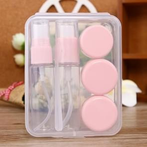 Reizen grootte cosmetica flessen Kit(Pink)