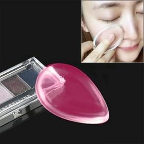 Waterdrop gevormde grote schoonheid gezichts make-up transparante Silicone glad poeder crème Puff(Magenta)
