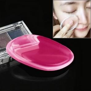 Quadrangle vormige grote schoonheid gezichts make-up transparante Silicone glad poeder crème Puff(Magenta)