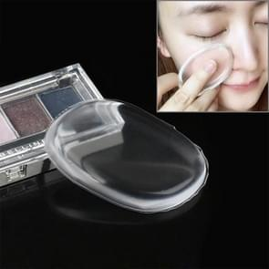 Quadrangle vormige grote schoonheid gezichts make-up transparante Silicone glad poeder crème Puff(Transparent)