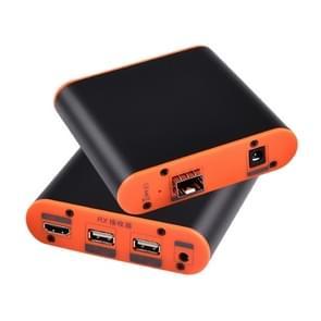 OPT882-KVM HDMI Extender (Receiver & Sender) Fiber Optic Extender met USB Port en KVM Functie  Transmissieafstand: 20KM (EU Plug)