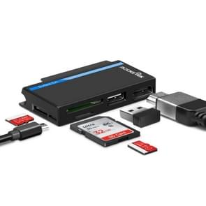 ROCKETEK SGO729 Micro USB + USB 2.0 + HDMI + SD / TF Memory Card Reader HUB 4K HDMI Adapter(Black)