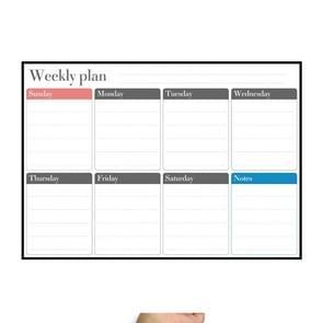 Magnetic Weekly Plan Koelkast Magnet PET Magnetic Soft Whiteboard  Grootte: 29 7 cm x 42cm (Zwart)