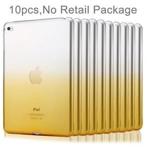 10 PCS HAWEEL for iPad Air 2 Slim Gradient Color Clear Soft TPU Protective Case, No Retail Package(Orange)