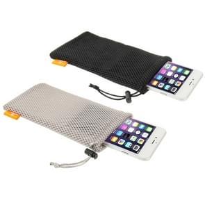 18 PC's gemengde kleuren HAWEEL Nylon Mesh etui Bag Kit met Candy blikjes Inpakken voor tot 5.5 inch scherm telefoon  grootte: 18.5 x 9 cm