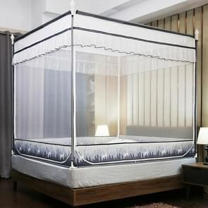 Vierkante plafond rits Mosquito netto encryptie rits drie deur verdediging mug voor 1 2 m bed (grijs)