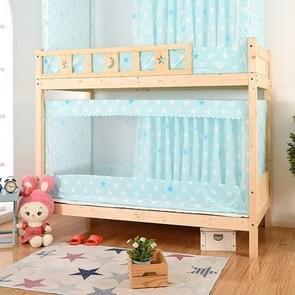 Students Dormitory Blackout Cloth Zipper Mosquito Net for 80cm Width Lower Berth (Light Blue Star)