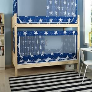 Students Dormitory Blackout Cloth Zipper Mosquito Net for 80cm Width Lower Berth (Dark Blue Star)