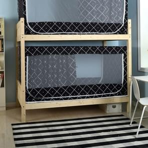 Students Dormitory Blackout Cloth Zipper Mosquito Net for 80cm Width Lower Berth (Plaid)