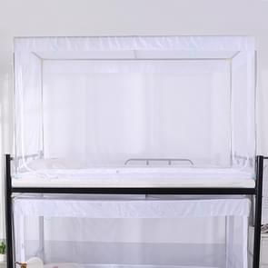Student Dormitory Square Ceiling Zipper Mosquito Net Encryption Zipper Three Door Defence Mosquito for Upper Berth(White)
