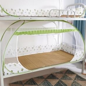 Student Dormitory Free Installation Yurt Mosquito Net Encryption Zipper Double Door Defence Mosquito for 135cm Width Lower Berth (Green)