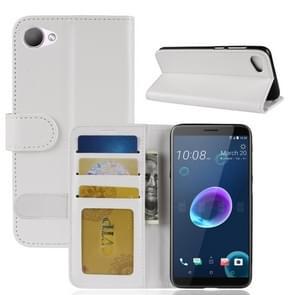 Voor HTC Desire 12 PU + TPU Crazy Horse textuur horizontale Flip lederen draagtas met portemonnee & houder & kaartsleuven (wit)