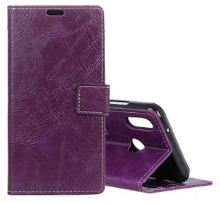 Retro Crazy Horse Texture Horizontal Flip Leather Case for HTC U12 Life, with Holder & Card Slots & Wallet & Photo Frame (Purple)