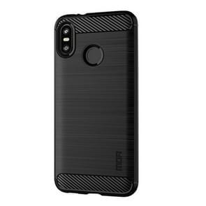 MOFI Brushed Texture Carbon Fiber Soft TPU Case for HTC U12 Life(Black)