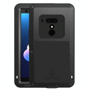 LOVE MEI Powerful Dustproof Shockproof Splashproof Metal + Silicone Combination Case  for HTC U12+(Black)
