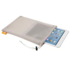 HAWEEL Nylon Mesh Pouch Cardigan met koord blijven voor oplopen tot 7 9 inch Tablet  grootte scherm: 24cm x 16cm(Grey)