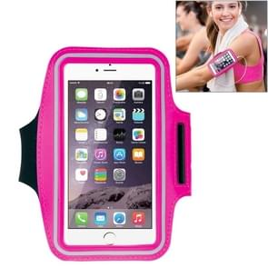 HAWEEL Sport Armband Case with Earphone Hole & Key Pocket, For iPhone XS, iPhone XS Max, iPhone X, iPhone 8 Plus & 7 Plus, iPhone 6 Plus, Galaxy S9+ / S8+ / S6 / S5(Magenta)