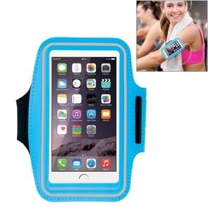 HAWEEL Sport Armband Case with Earphone Hole & Key Pocket for iPhone 6 Plus, Galaxy S6 / S5(Baby Blue)