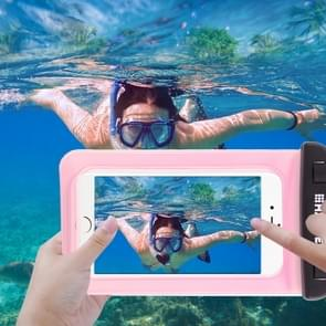 Transparante HAWEEL universeel Waterdicht tas met Lanyard voor iPhone 6 & 6 Plus / 6S & 6S Plus  Samsung Galaxy S6 / S5 / Note 5(roze)