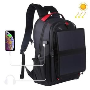 HAWEEL 14W Foldable Removable Solar Power Outdoor Portable Dual Shoulders Laptop Backpack, USB Output: 5V 2.1A Max(Black)