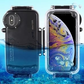 HAWEEL 40m/130ft Waterproof Diving Housing Photo Video Taking Underwater Cover Case for iPhone XS Max(Black)