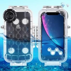 HAWEEL 40m/130ft Waterproof Diving Housing Photo Video Taking Underwater Cover Case for iPhone XR (Transparent)
