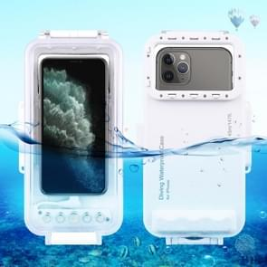 HAWEEL 45m Waterproof Diving Housing Photo Video Taking Underwater Cover Case for iPhone 11, iPhone X, iPhone 8 & 7, iPhone 6s, iOS 13.0 or Above Version iPhone(White)