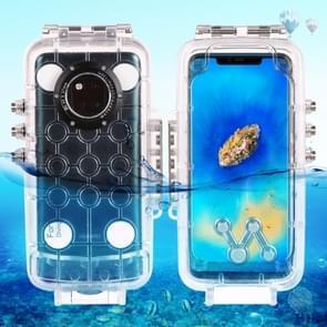 HAWEEL 40m / 130ft waterdichte duiken huisvesting Foto Video nemen onderwater Cover Case voor Huawei Mate 20 Pro(Transparent)
