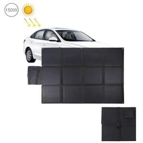 HAWEEL 150W 12-voudige ETFE zonnepaneel lader met 5V/4.8 A USB-poort + DC-uitgang (zwart)
