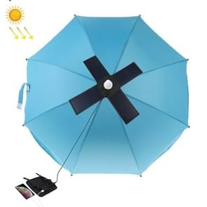 HAWEEL 28W opvouwbare paraplu top zonnepaneel lader met 5V 3A Max Dual USB-poorten  ondersteuning QC 3.0/FCP/SCP/AFC/SFCP Protocol (zwart)