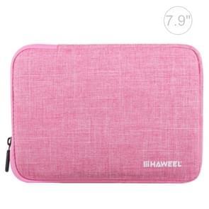 HAWEEL 7.9 inch Sleeve Case Zipper Briefcase Carrying Bag, For iPad mini 4 / iPad mini 3 / iPad mini 2 / iPad mini, Galaxy, Lenovo, Sony, Xiaomi, Huawei 7.9 inch Tablets(Pink)