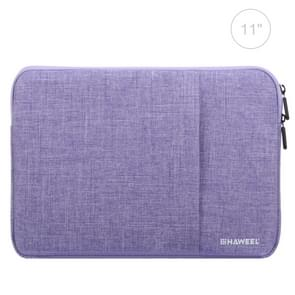 HAWEEL 11 inch Sleeve Case Zipper Briefcase Carrying Bag, For Macbook, Samsung, Lenovo, Sony, DELL Alienware, CHUWI, ASUS, HP, 11 inch and Below Laptops / Tablets(Purple)