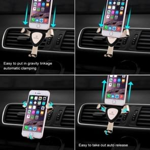 HAWEEL Triangle Design Universal Car Air Vent Phone Holder Mount, For iPhone, Galaxy, Sony, Lenovo, HTC, Huawei, and other Smartphones(Gold)