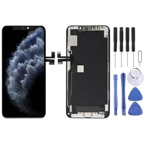 OLED Material LCD Screen and Digitizer Full Assembly with Frame for iPhone 11 Pro Max(Black)