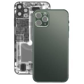 Glas batterij achtercover voor iPhone 11 Pro (groen)