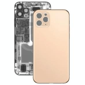 Back Battery Cover Glass Panel for iPhone 11 Pro(Gold)