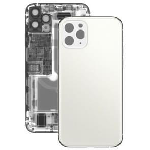 Glas batterij achtercover voor iPhone 11 Pro (wit)