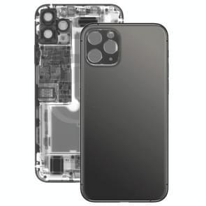 Glazen batterij achterkant voor iPhone 11 Pro Max (Zwart)