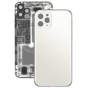 Glazen batterij achterkant voor iPhone 11 Pro Max (Wit)