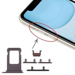 SIM Card Tray + Side Key for iPhone 11(Black)