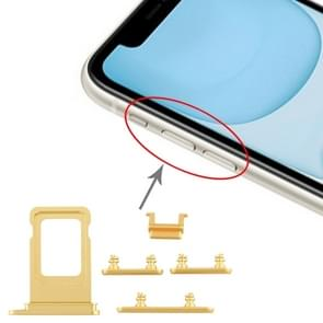 SIM Card Tray + Side Key for iPhone 11(Yellow)