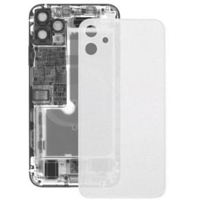 Transparante Frosted Glass batterij achtercover voor iPhone 11 (transparant)