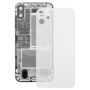 Transparante glazen achtercover voor iPhone 11 (transparant)