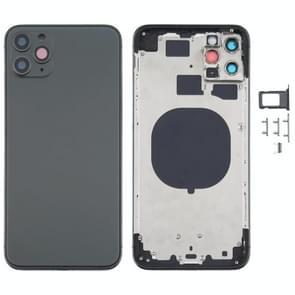 Achterkant Behuizing Cover met uiterlijk Imitatie van de iPhone 12 voor de iPhone 11 Pro Max (Zwart)