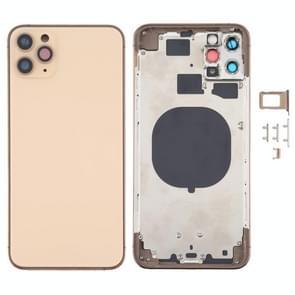 Achterkant behuizing cover met uiterlijk Imitatie van de iPhone 12 voor de iPhone 11 Pro Max (Goud)