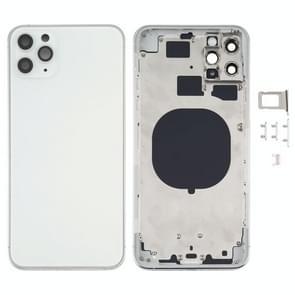 Achterkant behuizing cover met uiterlijk imitatie van de iPhone 12 voor de iPhone 11 Pro Max (Wit)