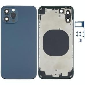Achterkant behuizing cover met uiterlijk imitatie van de iPhone 12 voor iPhone X (Blauw)